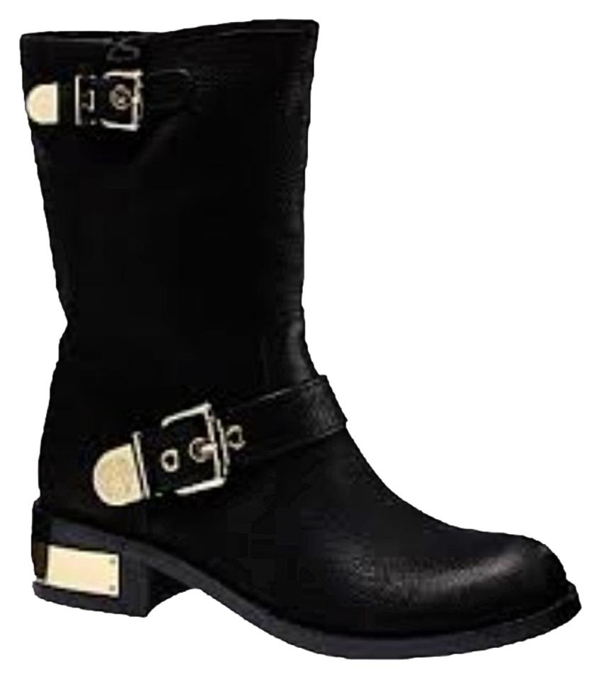 Vince Camuto Black with Gold Boots/Booties Accents Winchell Boots/Booties Gold dd7bef