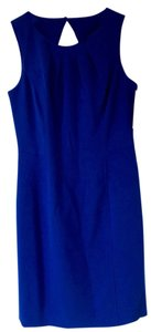 Eliza J Cocktail Knee Length Blue Cutout Dress