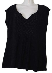 Anthropologie Deletta Sleeveless Quilted Top Black