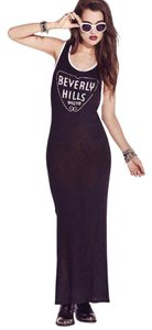 Black/Cream Maxi Dress by Forever 21