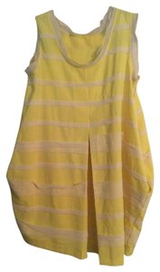 Alexander McQueen short dress Yellow and White Pockets on Tradesy