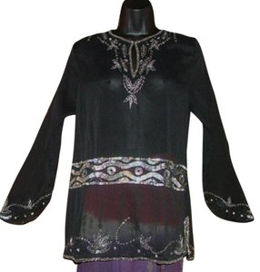 Raiment Bohemian Festival Beaded Embroidered Sequin Tunic