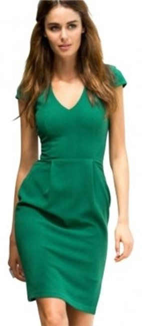 Preload https://item3.tradesy.com/images/h-and-m-green-knee-length-workoffice-dress-size-8-m-158427-0-0.jpg?width=400&height=650