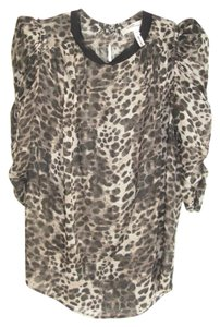 Isabel Marant Leopard Print Animal Top MULTI