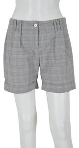 United Colors of Benetton Cotton With Cuffs Dress Shorts Blue & Tan Plaid