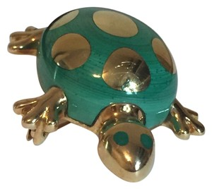 Tiffany & Co. Vintage Tiffany & Co. 18KT Yellow Gold Enamel Turtle Pin Brooch