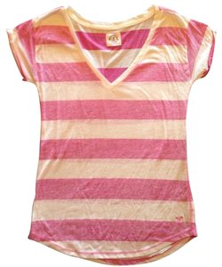 American Eagle Outfitters T Shirt Pink, White