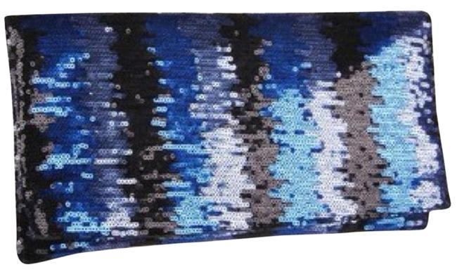 Item - Foldover Blue Sequin Clutch