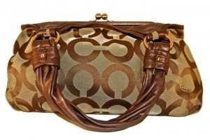 Coach Satchel in khaki/brown