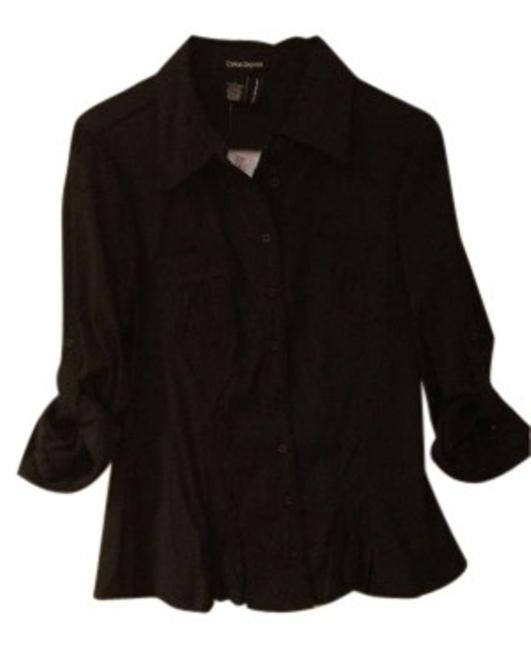 Preload https://item3.tradesy.com/images/cotton-express-black-button-down-top-size-12-l-158437-0-0.jpg?width=400&height=650