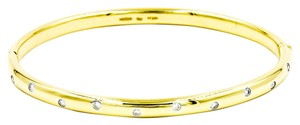 Tiffany & Co. Tiffany & Co. Etoile 10 Diamond Bangle Bracelet in 18k Yellow Gold and 950 Platinum Length 6.5