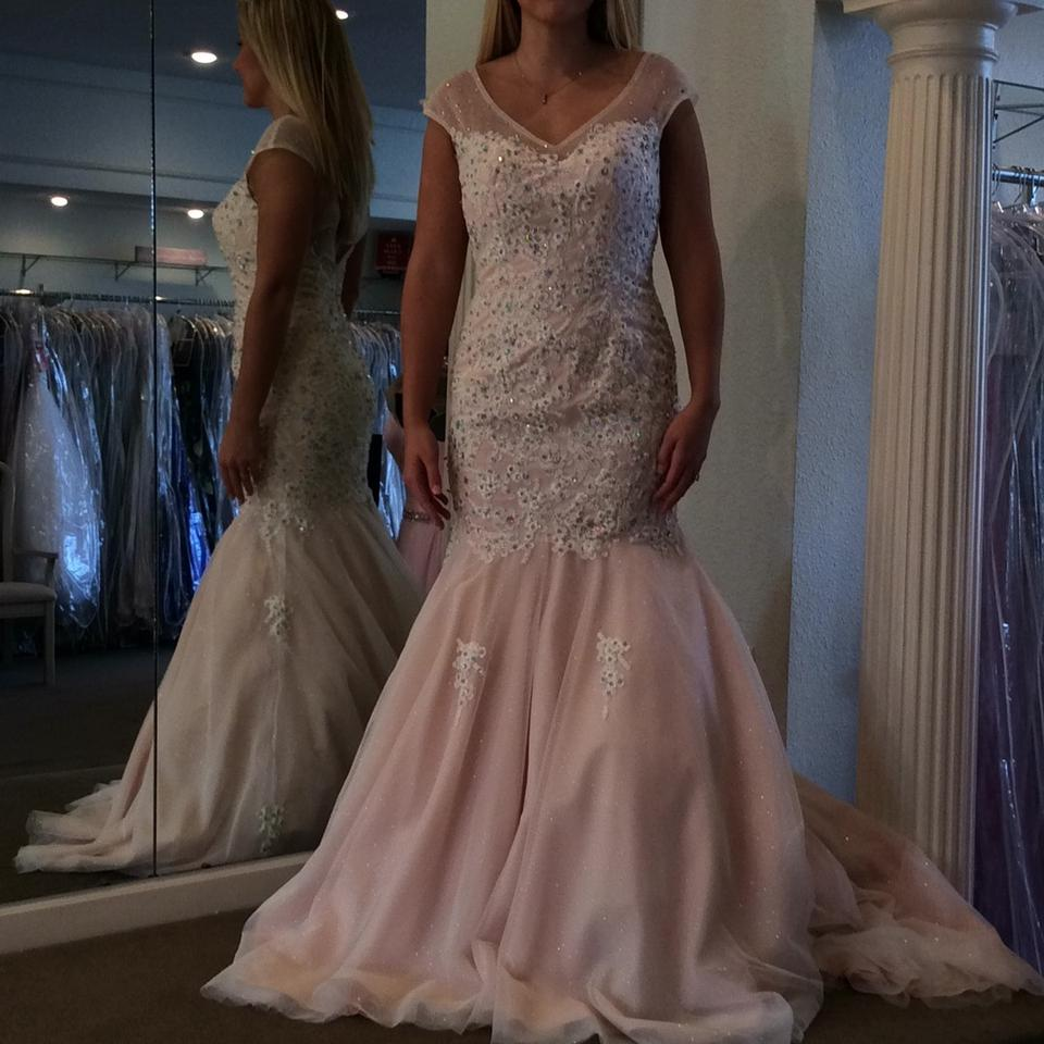 Panoply Blush Tulle Feminine Wedding Dress Size 6 (S) - Tradesy