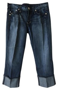 Rock & Republic Chrissy Chraw Capri Cuffed Capri Capri/Cropped Denim-Medium Wash