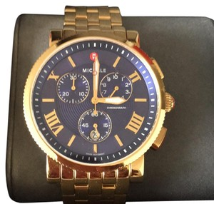 Michele Michele Sport Sail Large Gold Chronogragh Swiss Watch