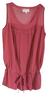 Vanessa Bruno Feminine Silk Netting Top BLUSH