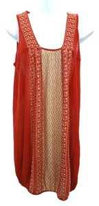 Free People short dress Red Linen on Tradesy