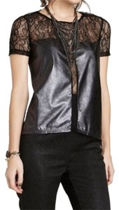BCBGMAXAZRIA Top Black/silver