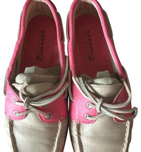 Sperry Beige with pink accents and sole Athletic