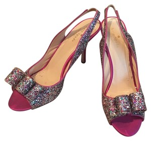 Kate Spade Multi sparkle / Pink Pumps