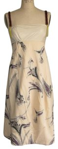 Marni short dress CREAM + MULTI Asymmetric Avant Garde Beads on Tradesy