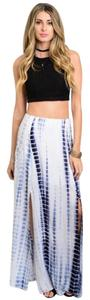 GBS Maxi Skirt White and Navy