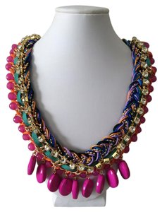 Other Pink Bohemian Statement Necklace