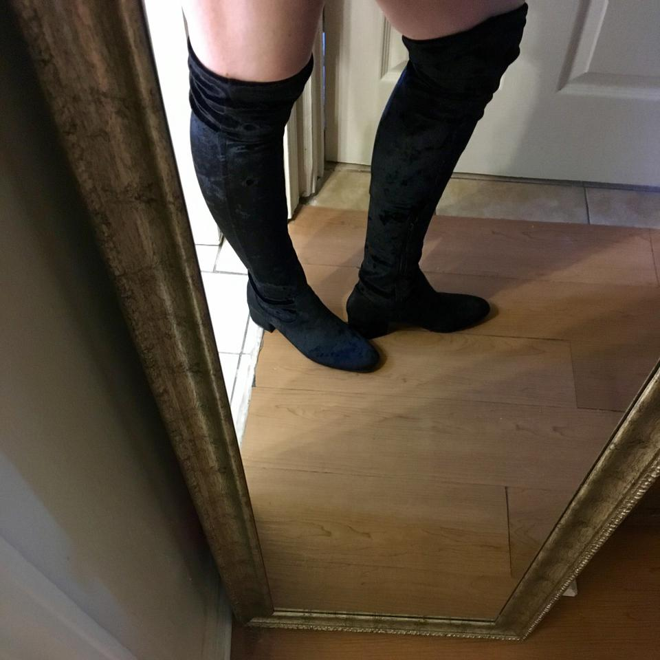 e1de1606c4f5 H&M Black Vegan Crushed Velvet Over The Knee Boots/Booties Size US 9.5  Regular (M, B) - Tradesy