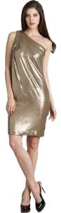 Badgley Mischka One Shoulder Dress