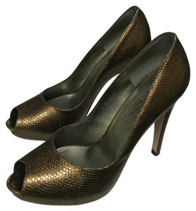Salvatore Ferragamo Bronze Platforms