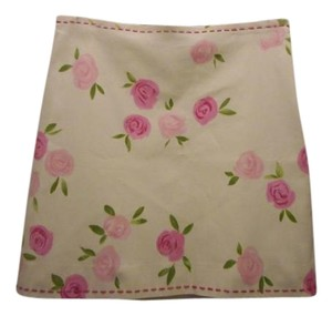 Moschino Floral Mini Skirt IVORY