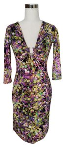 Robero Cavalli Silk Sexy Dress