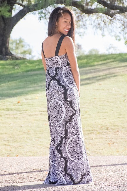 BLACK AND WHITE Maxi Dress by INC International Concepts