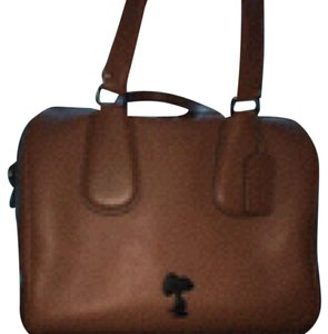 EUC COACH X Peanuts (Snoopy) Lg Beautiful Saddle Brown Surrey Limited Edition Snoopy Satchel in Saddle Brown