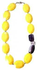 Sabine yellow beaded statement necklace