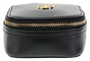 Tory Burch Tory Burch Robinson Saffiano Leather Jewelry Case/Bag - Black