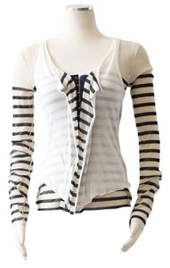 Jean-Paul Gaultier Top Black and White