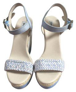 Dune London Blue Wedges