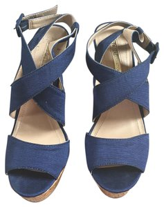 BCBGeneration Navy Blue Wedges