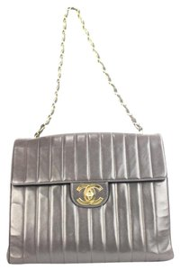 Chanel Vertical Quilted Chevron Jumbo Shoulder Bag