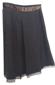 Elie Tahari Skirt black brown