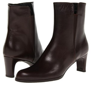 Stuart Weitzman Parttime Leather Ankle Brown Boots