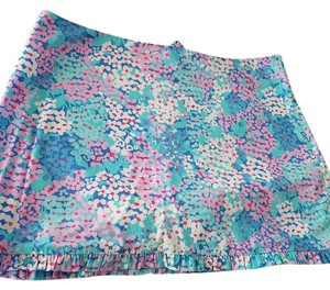 Lilly Pulitzer Mini Skirt Blue Pink White