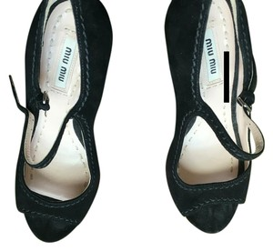 Miu Miu Nero Wedges