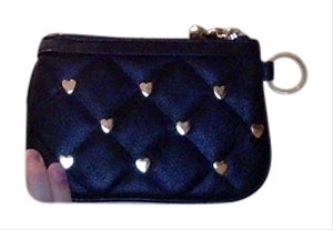 Betsey Johnson Cute Hearts Black and Gold Clutch