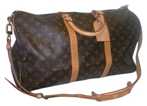 Louis Vuitton Keepall Bandouliere Carry On Monogram Travel Bag
