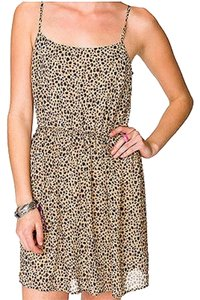 Other Leopard Animal Print Chiffon Casual Dress