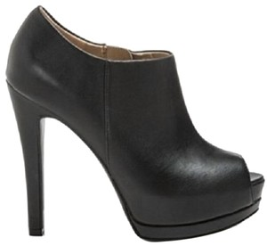 Guess Vegan Killa Peep Toe Platform Black Boots