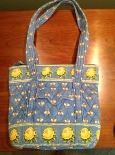 Vera Bradley Fabric Villager Tote in Bees (Retired)