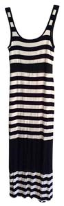 black and white Maxi Dress by Bailey 44 Striped Rayon Silk