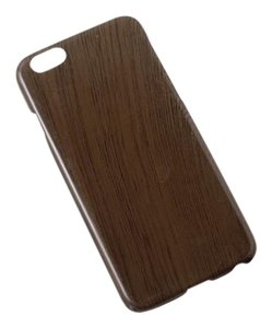 BRAND NEW Coffee Brown Faux Wood Protective iPhone 6 Cover 5.5 Inch